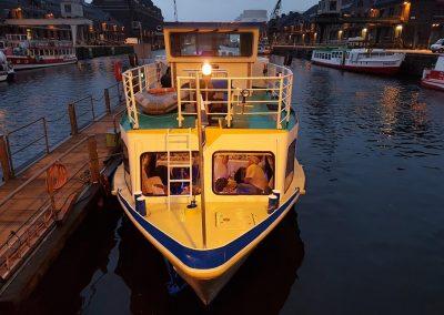 Abendstimmung Ms Bon Ami - Schiff chartern Berlin
