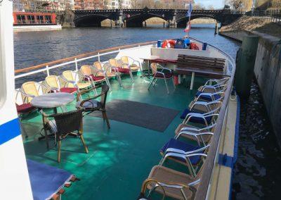Vorschiff der Ms La Belle - Schiff chartern Berlin