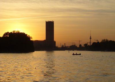 Sonnenuntergang - Ms Bon Ami - Schiff Mieten Berlin