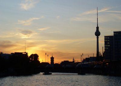 Sonnenuntergang - Ms Bon Ami - Schiffsvermietung Berlin