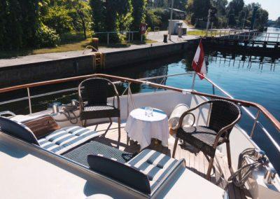 Außenbereich - Ms Bellevue - Yacht charter Berlin