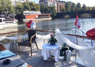 Hochzeitsdekoration - Ms Bellevue - Yacht charter Berlin