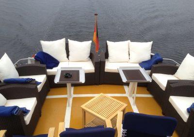 Sitzbereich - Ms Bellevue - Yacht charter Berlin