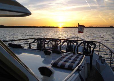 Sonnenuntergang - Yacht Ms Bellevue - Yacht charter Berlin