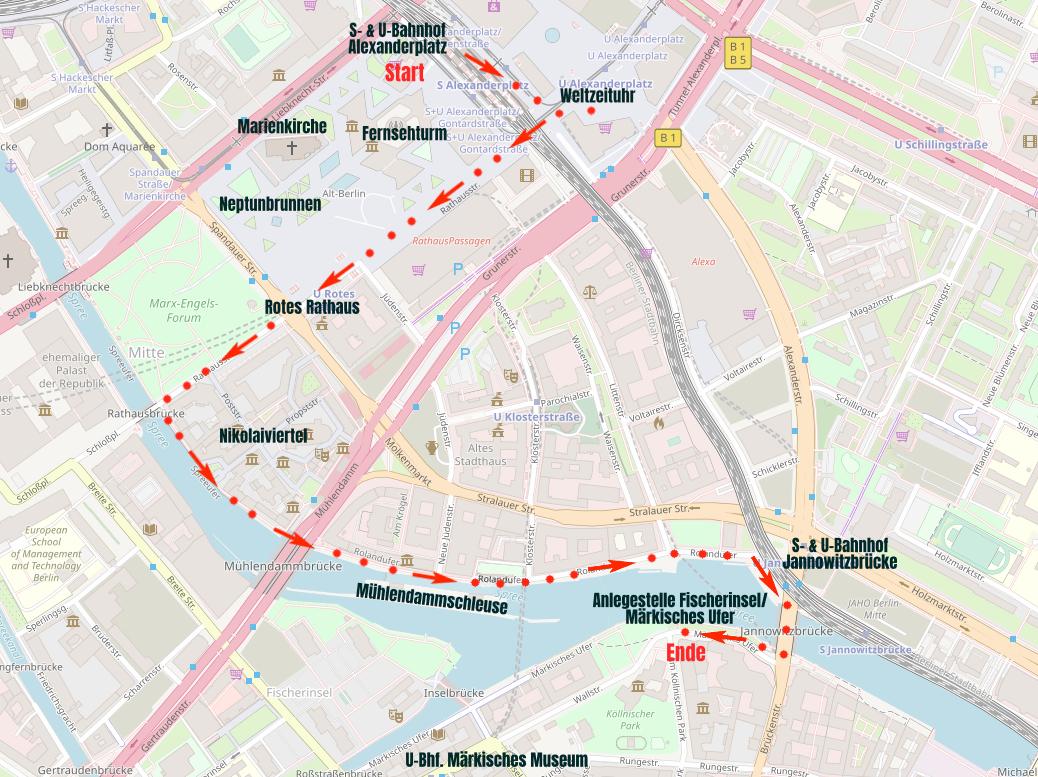Spaziergang durch die Berliner Innenstadt